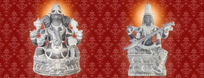 Ganesha, Saraswathi