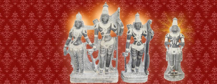 Seetha, Rama, Lakshman, Hanuman