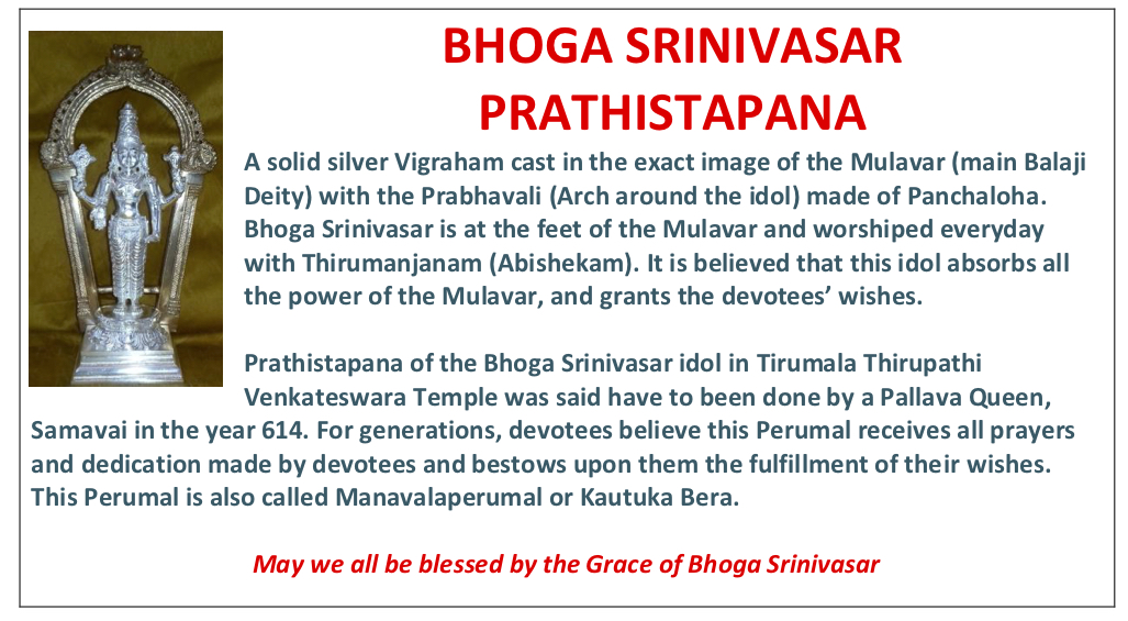 Temple Dedication, Boga Srinivasara Prathistapana, Balamurugar and